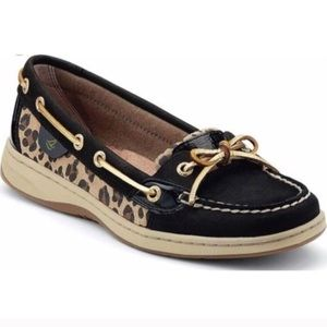 Sperry Leopard Print Angelfish Boat Shoes